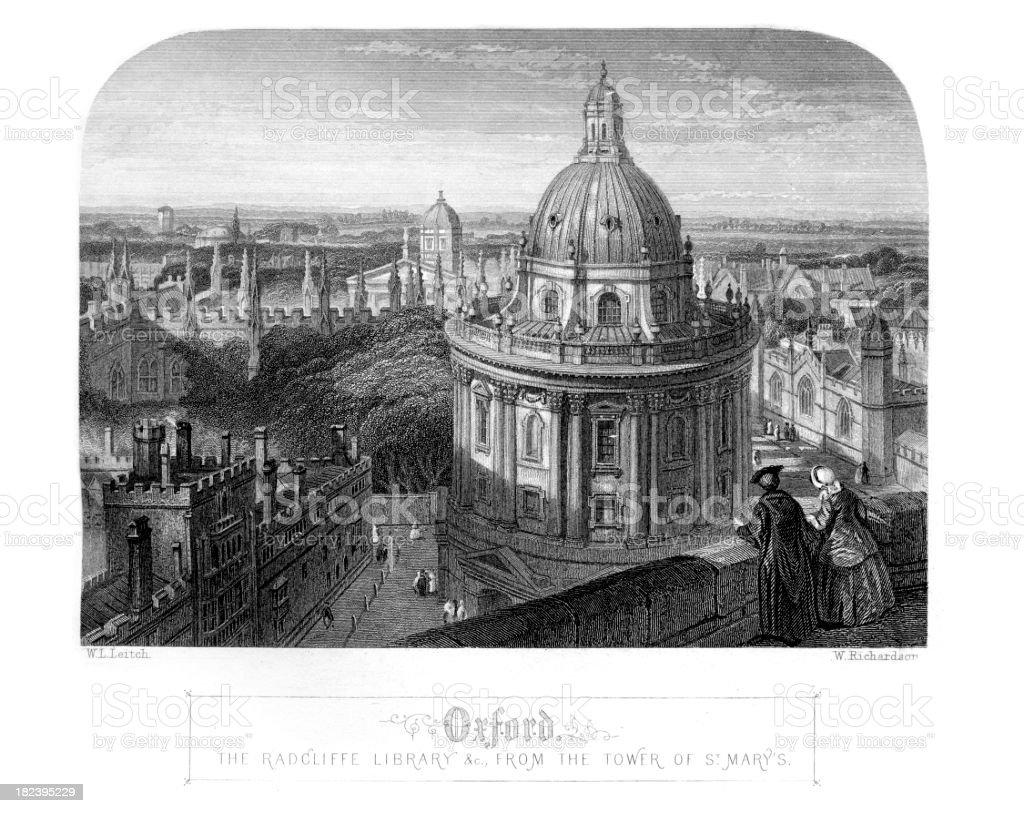 Oxford England vector art illustration