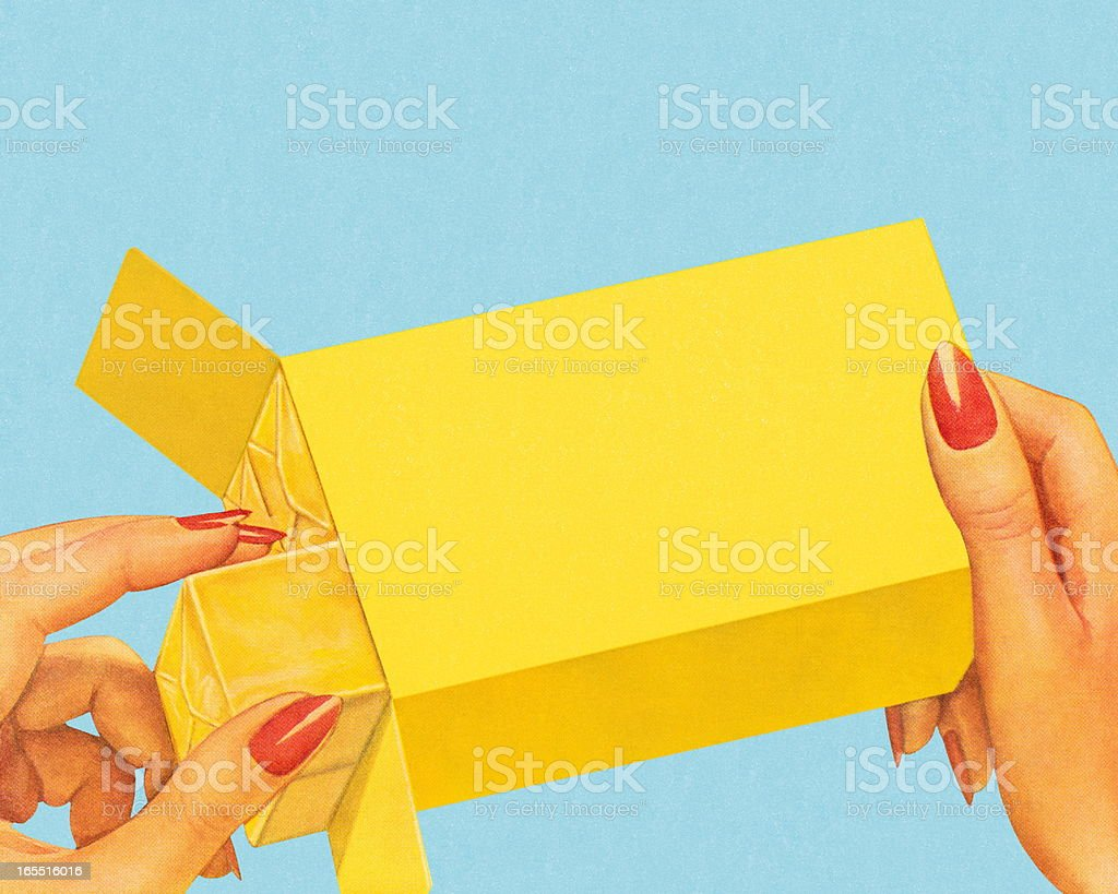 Package of Butter vector art illustration