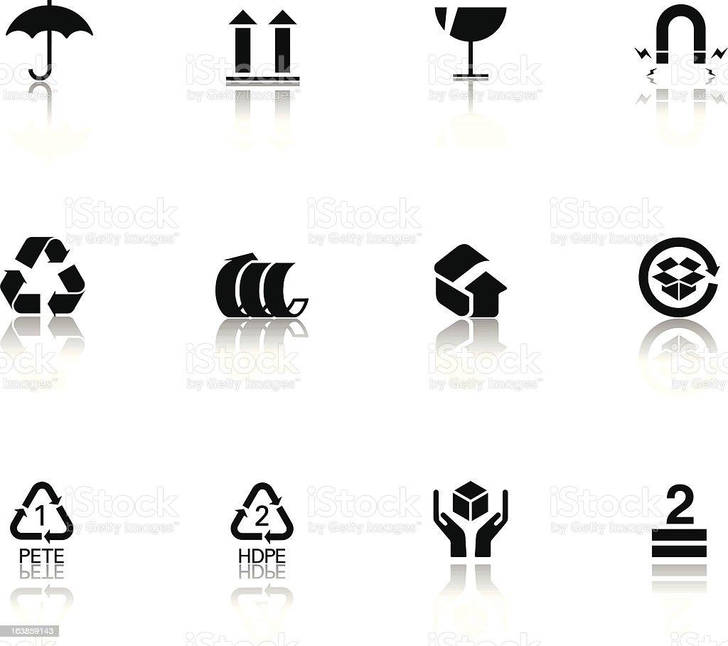 Opakowania ikony stockowa ilustracja wektorowa royalty-free
