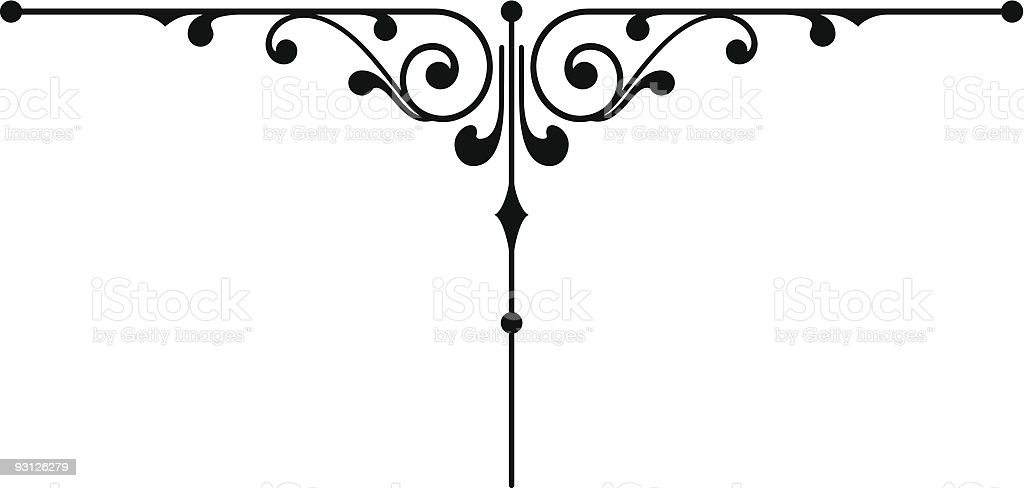 Page Ornament 3b royalty-free stock vector art