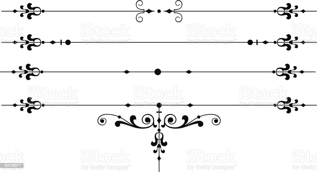 Page Ornaments royalty-free stock vector art