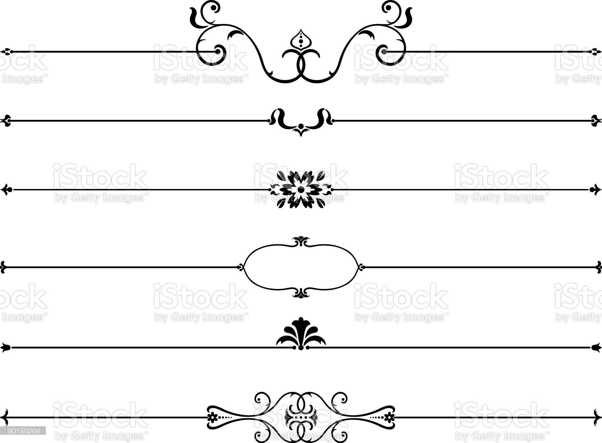 page rules set I royalty-free stock vector art
