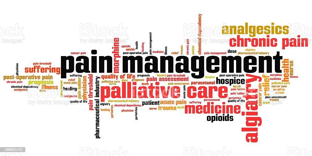 Pain management vector art illustration