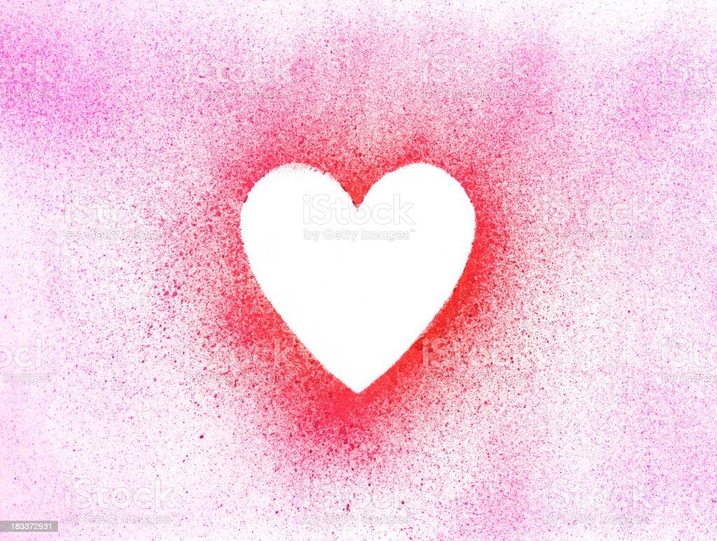 Paint Brush Heart Shape Frame Texture Paper vector art illustration