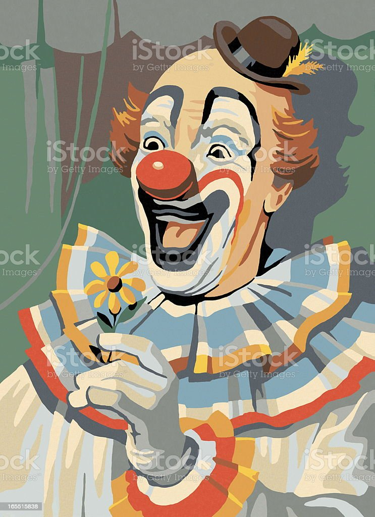 Paint By Number Clown vector art illustration