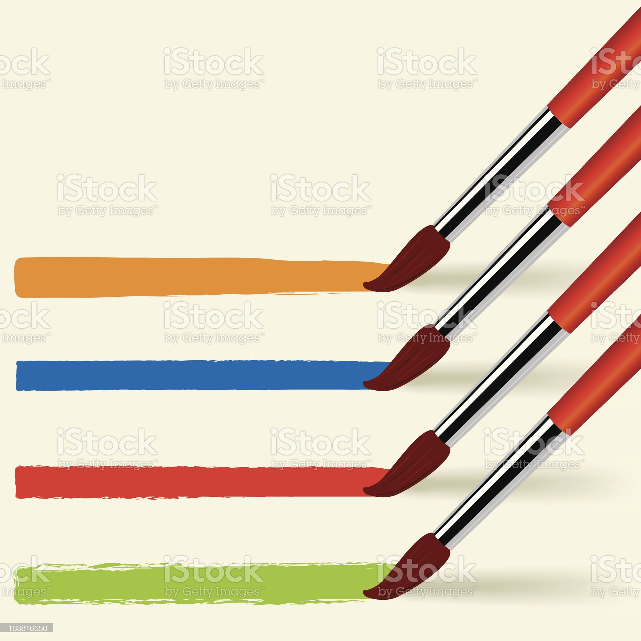 Paintbrushes (vector) royalty-free stock vector art