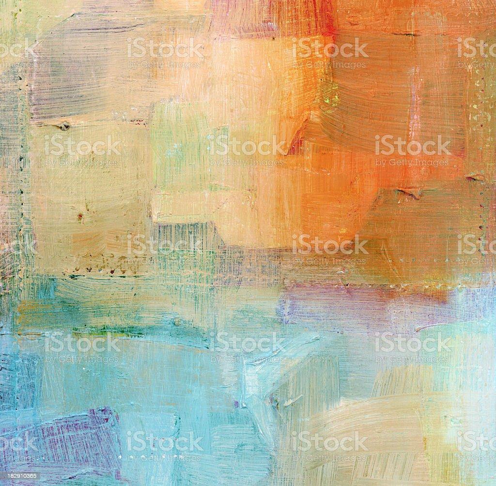 Painted Blue and Orange Background vector art illustration