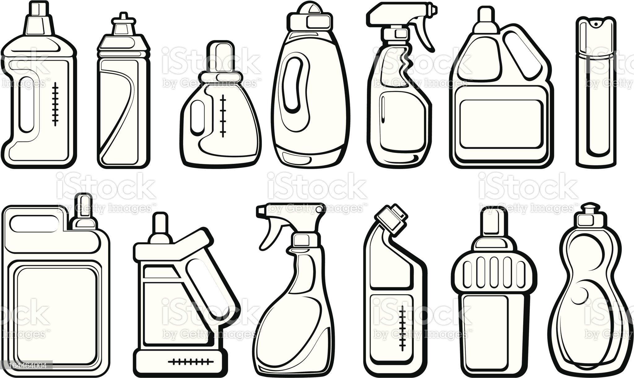 painted bottles royalty-free stock vector art