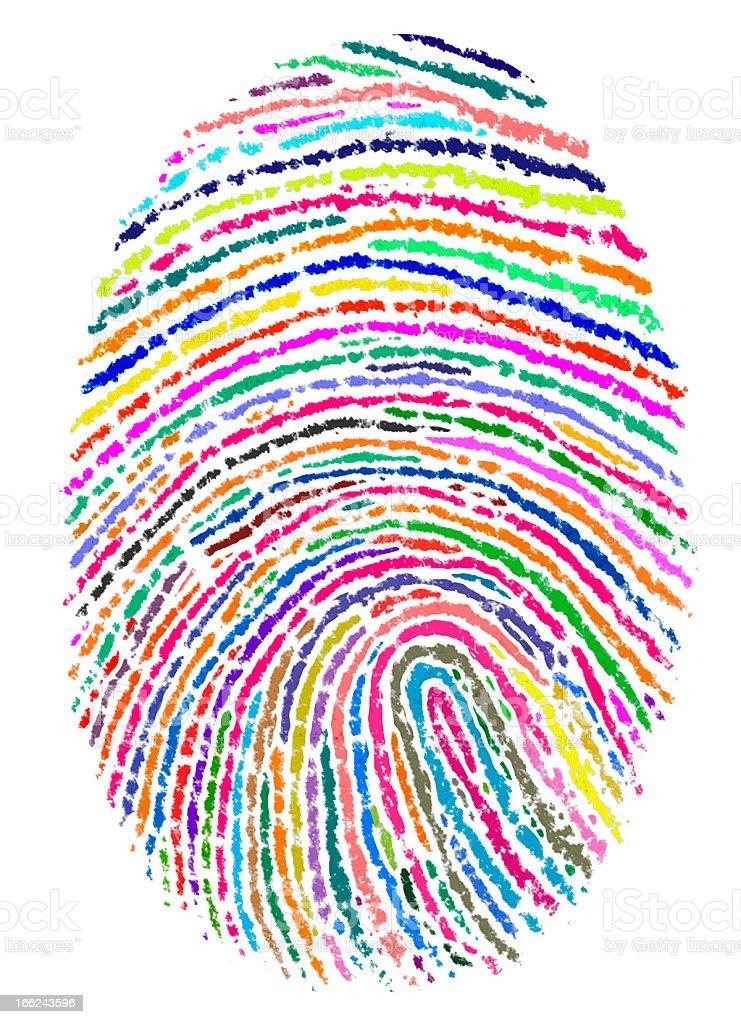 painted finger print vector art illustration