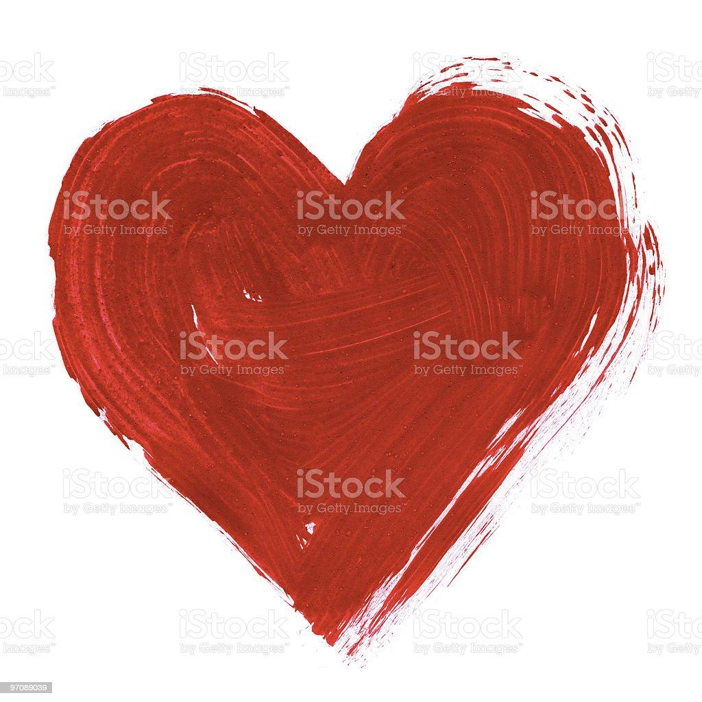 Painted heart vector art illustration