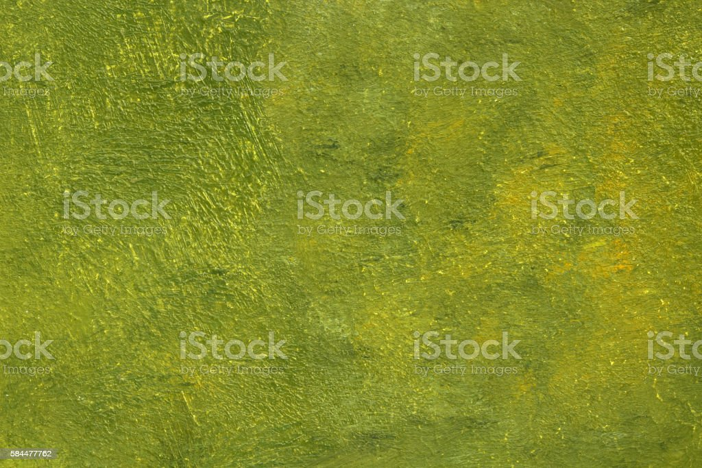 Painted olive avocado green background with brush stroke texture vector art illustration
