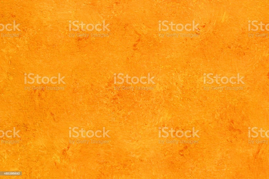 Painted orange gold watercolor background with texture vector art illustration
