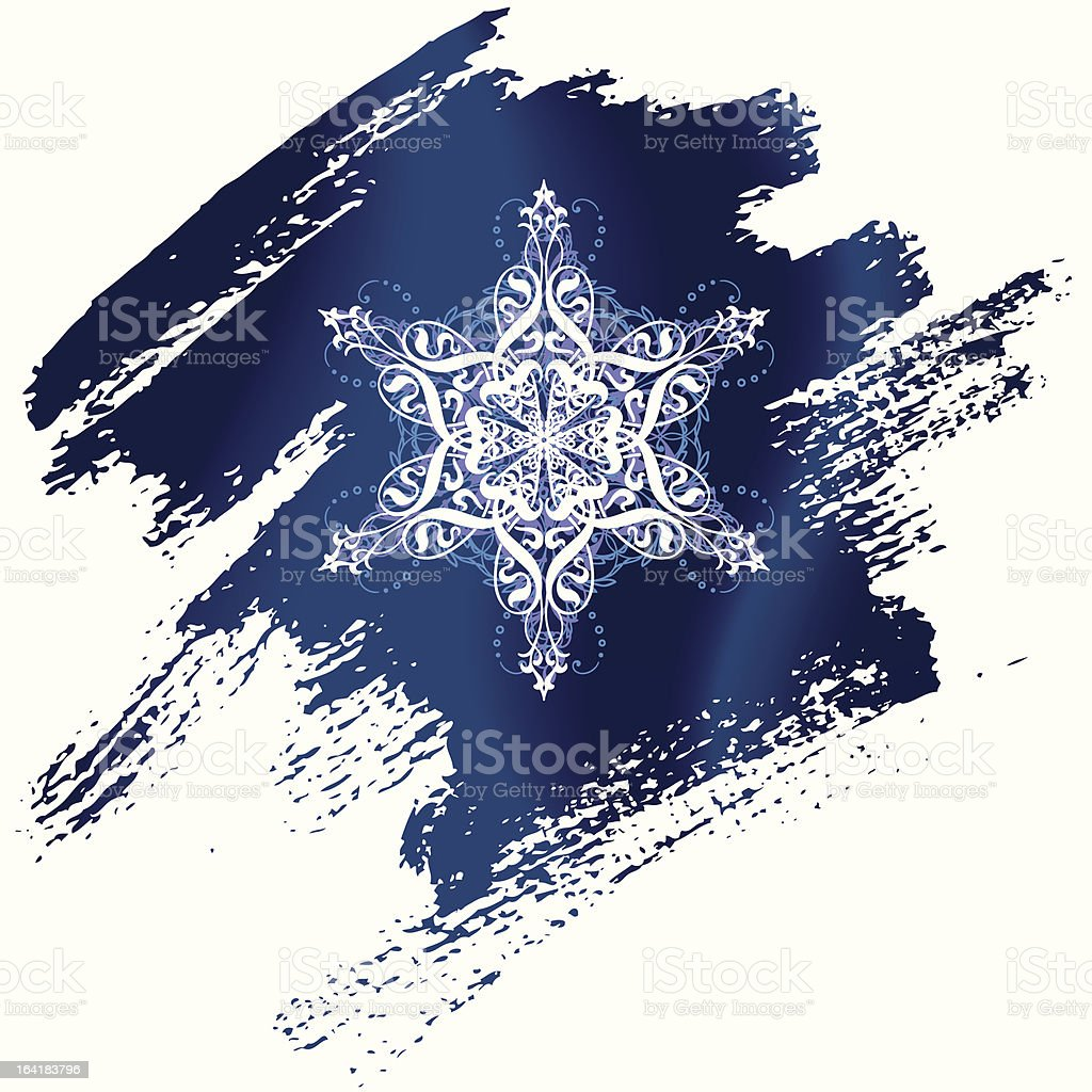 painted snowflake royalty-free stock vector art