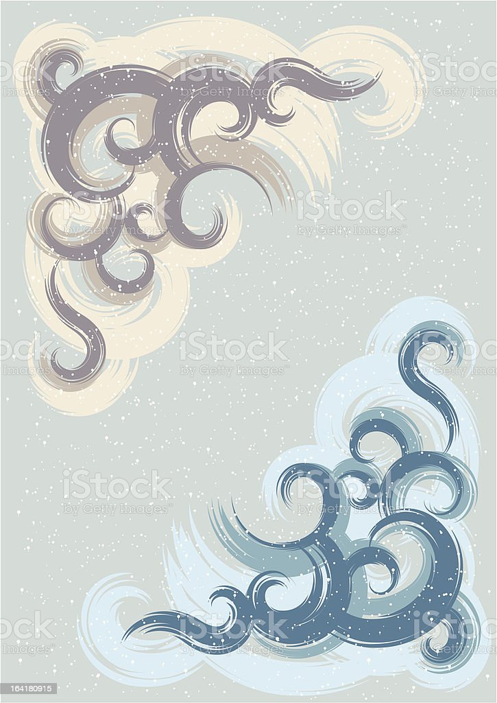 Painted wall royalty-free stock vector art
