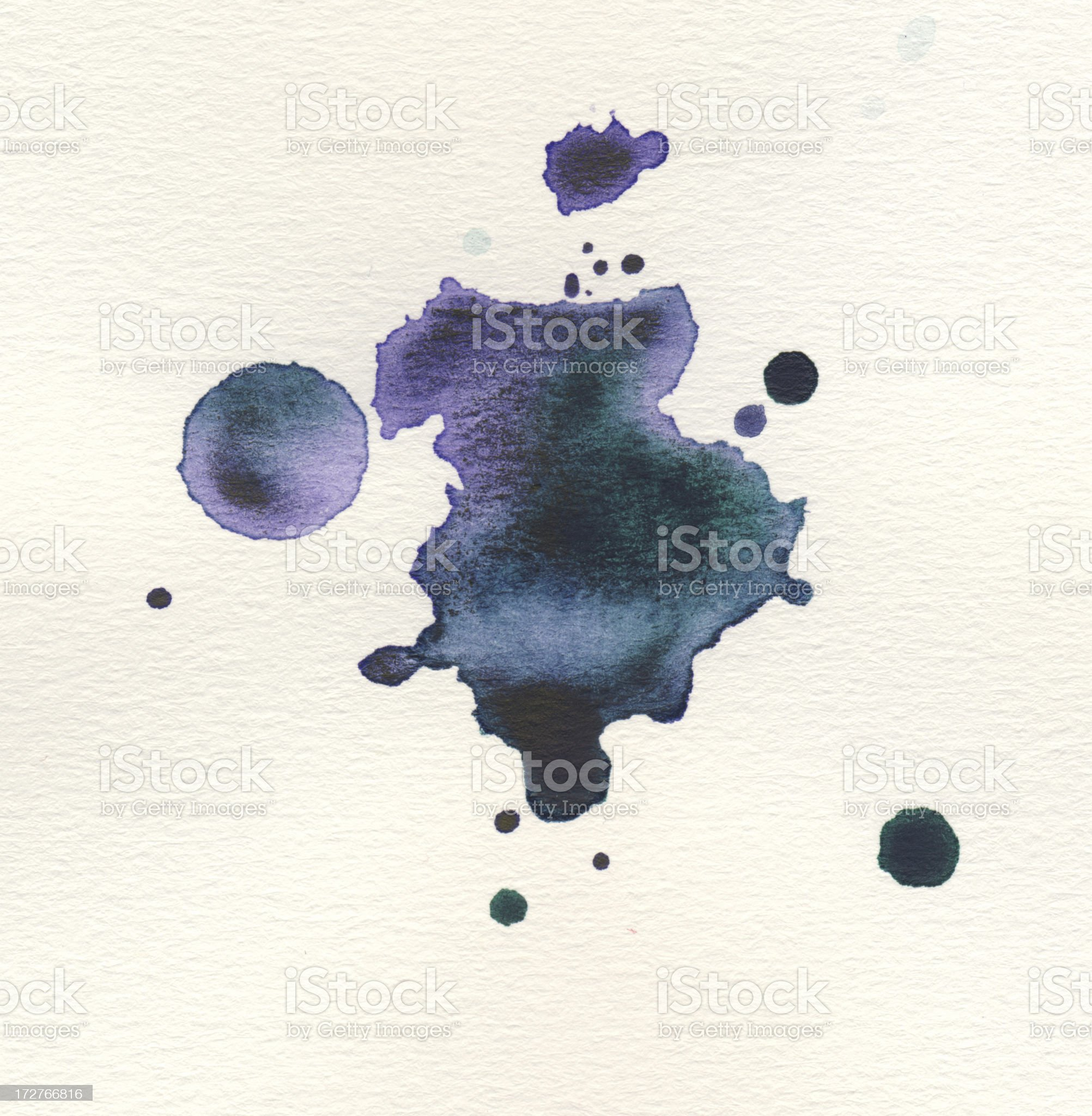 Painted watercolor on paper royalty-free stock vector art