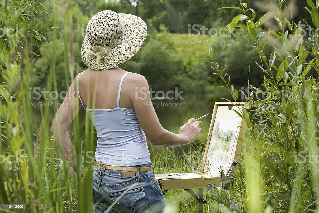 painter royalty-free stock vector art