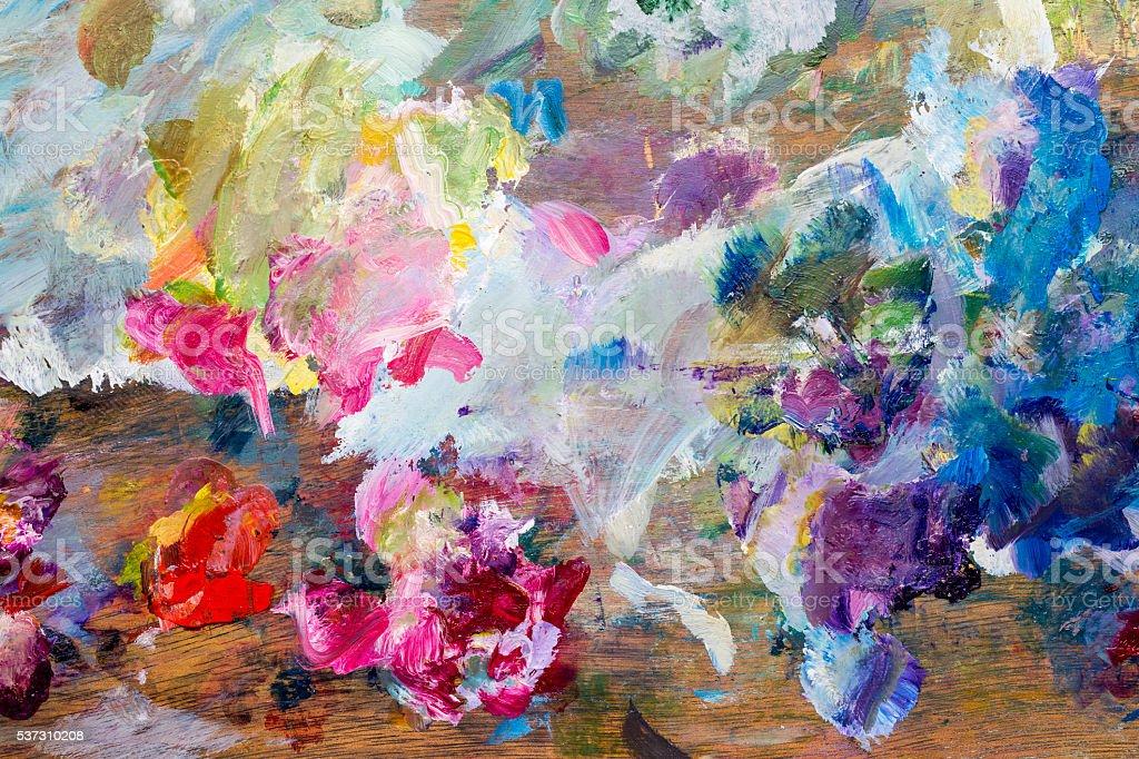 Painter palette background vector art illustration