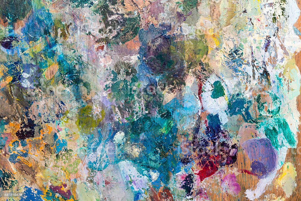 Painter palette background stock photo