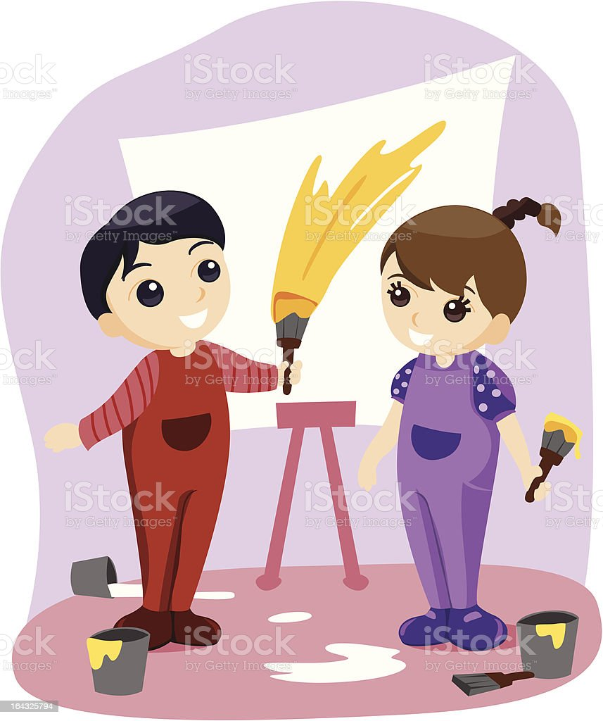 Painting royalty-free stock vector art