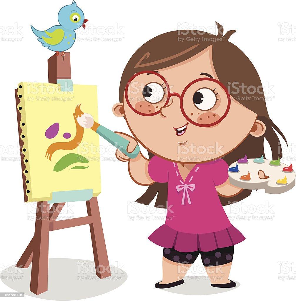 Painting vector art illustration