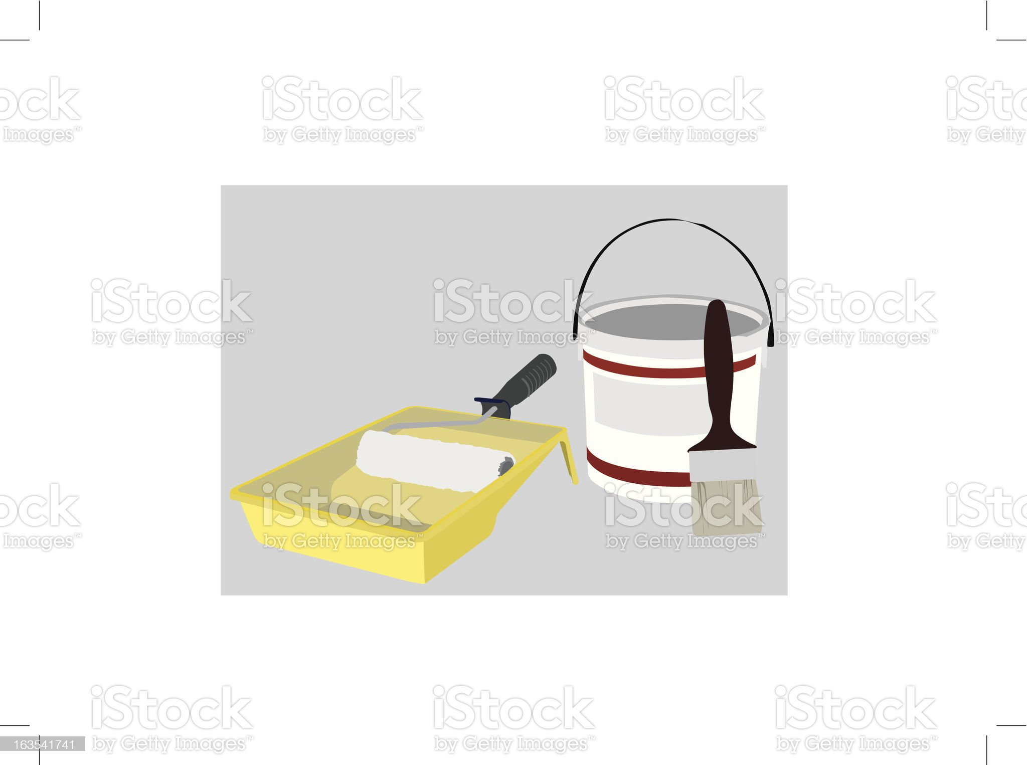 Painting kit royalty-free stock vector art