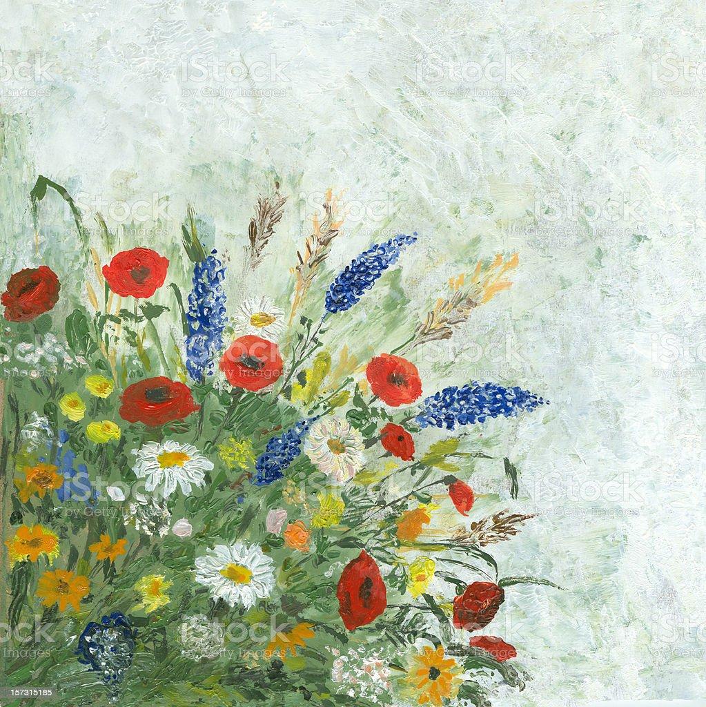 Wild blumen bouquet Lizenzfreies vektor illustration