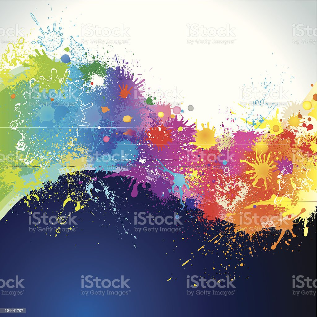 Paints wave royalty-free stock vector art