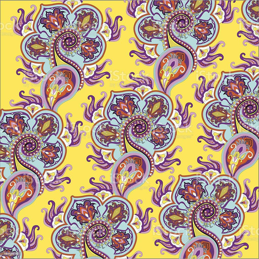 Paisley Color Pattern vector art illustration