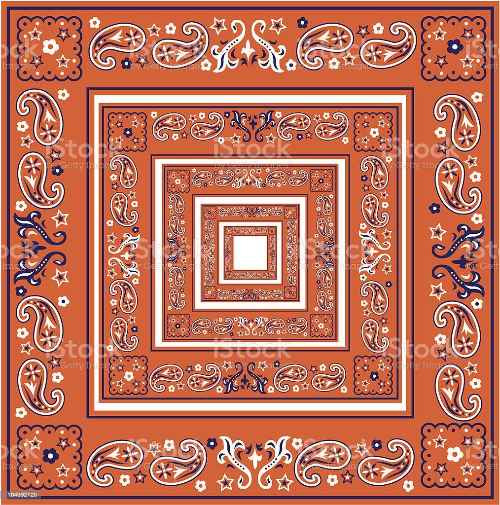 Paisley Squares/ Borders vector art illustration