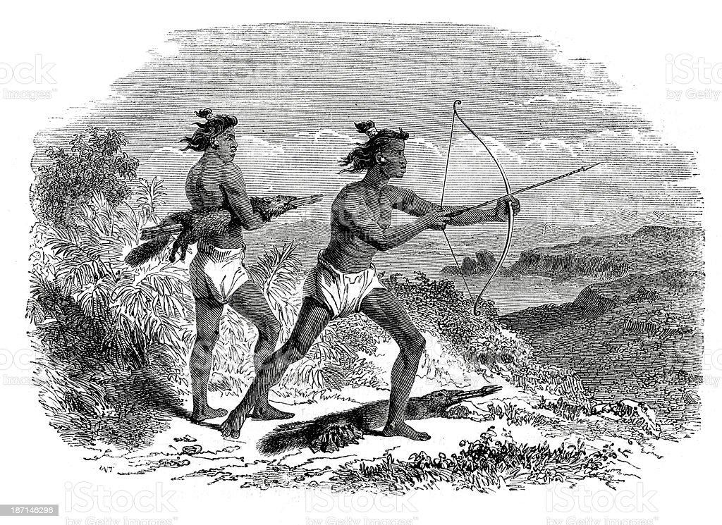 Paiute native americans royalty-free stock vector art