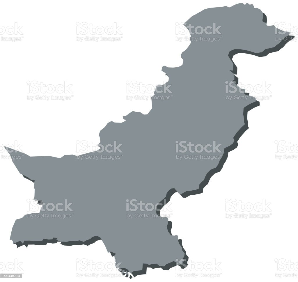 Pakistan Asia Map royalty-free stock vector art