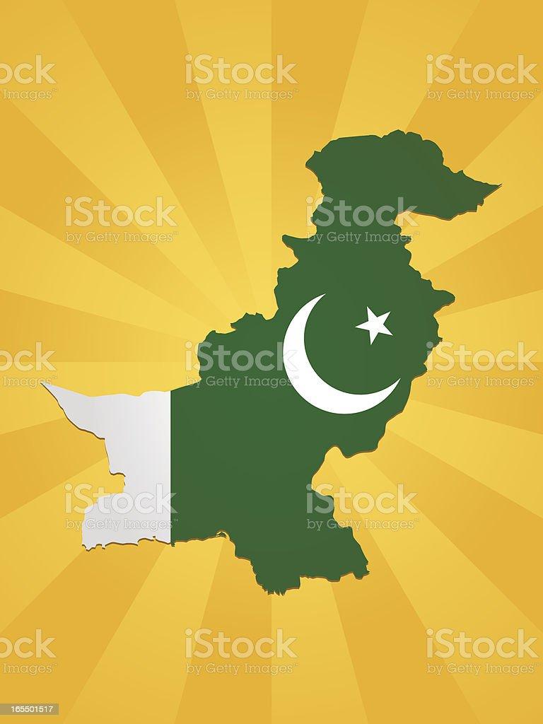 Pakistan Flag Background royalty-free stock vector art