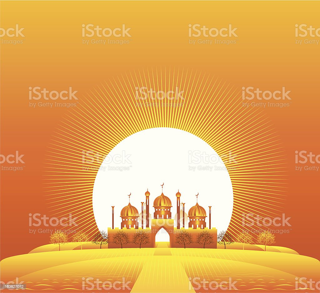 Palace of the sheikh royalty-free stock vector art