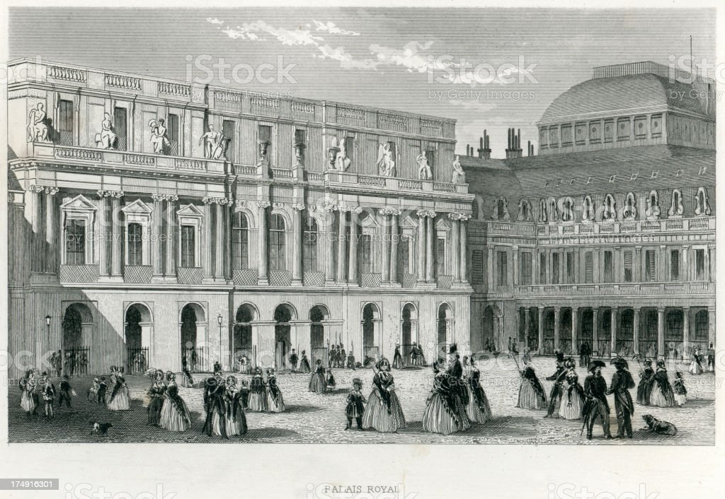 Palais-Royal, Paris royalty-free stock vector art