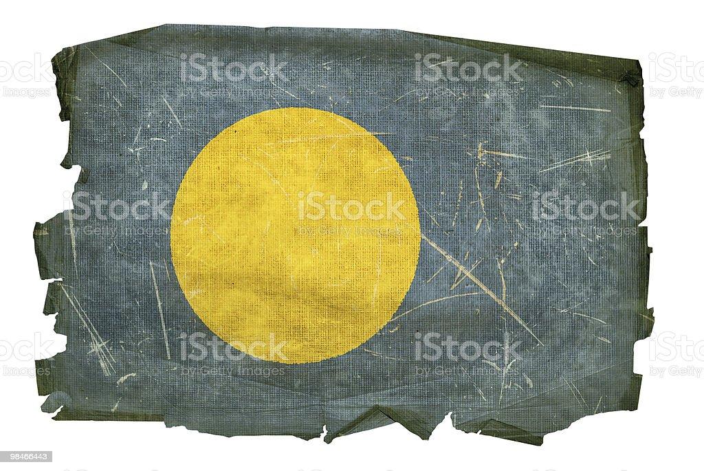 Palau Flag old, isolated on white background. royalty-free stock vector art