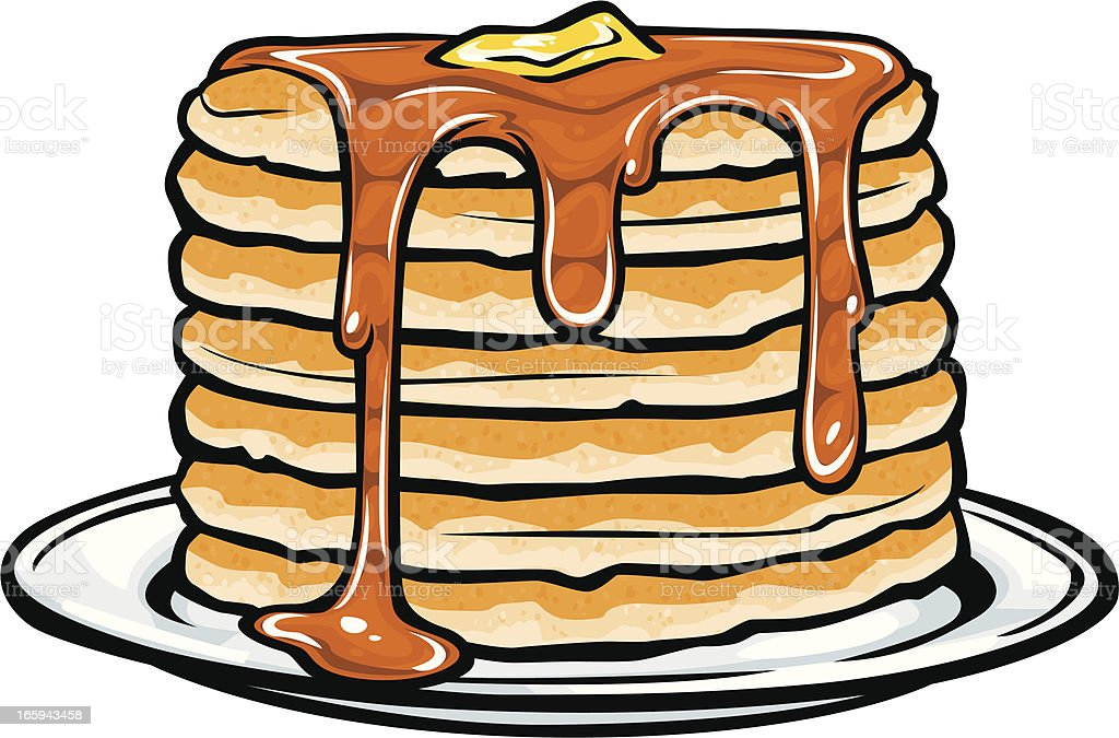 pancake stack vector art illustration