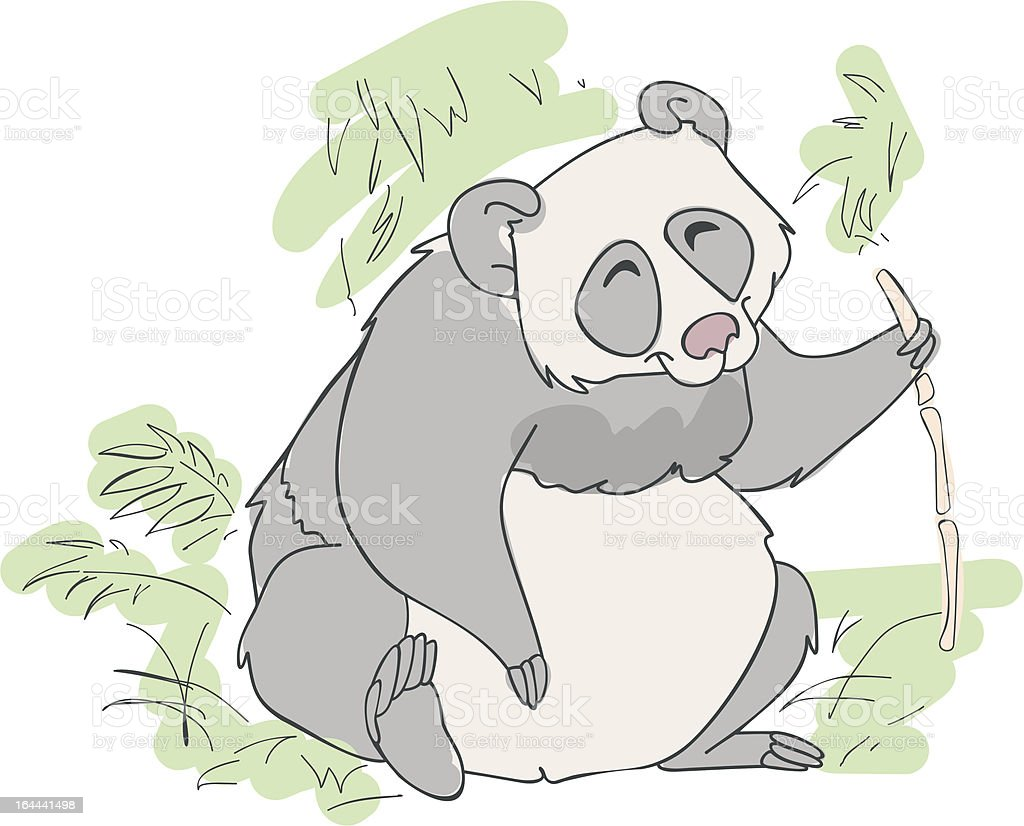panda bear vector illustration royalty-free stock vector art