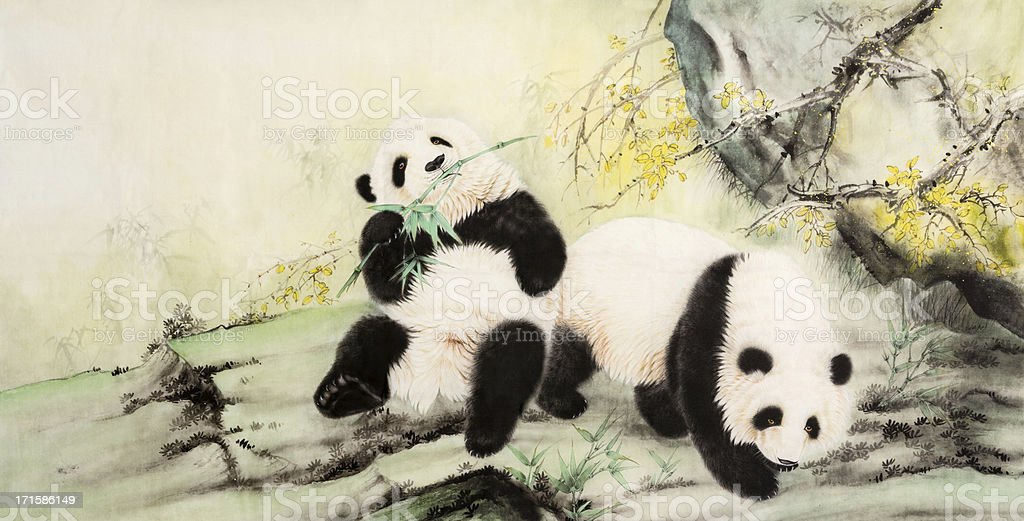panda royalty-free stock vector art