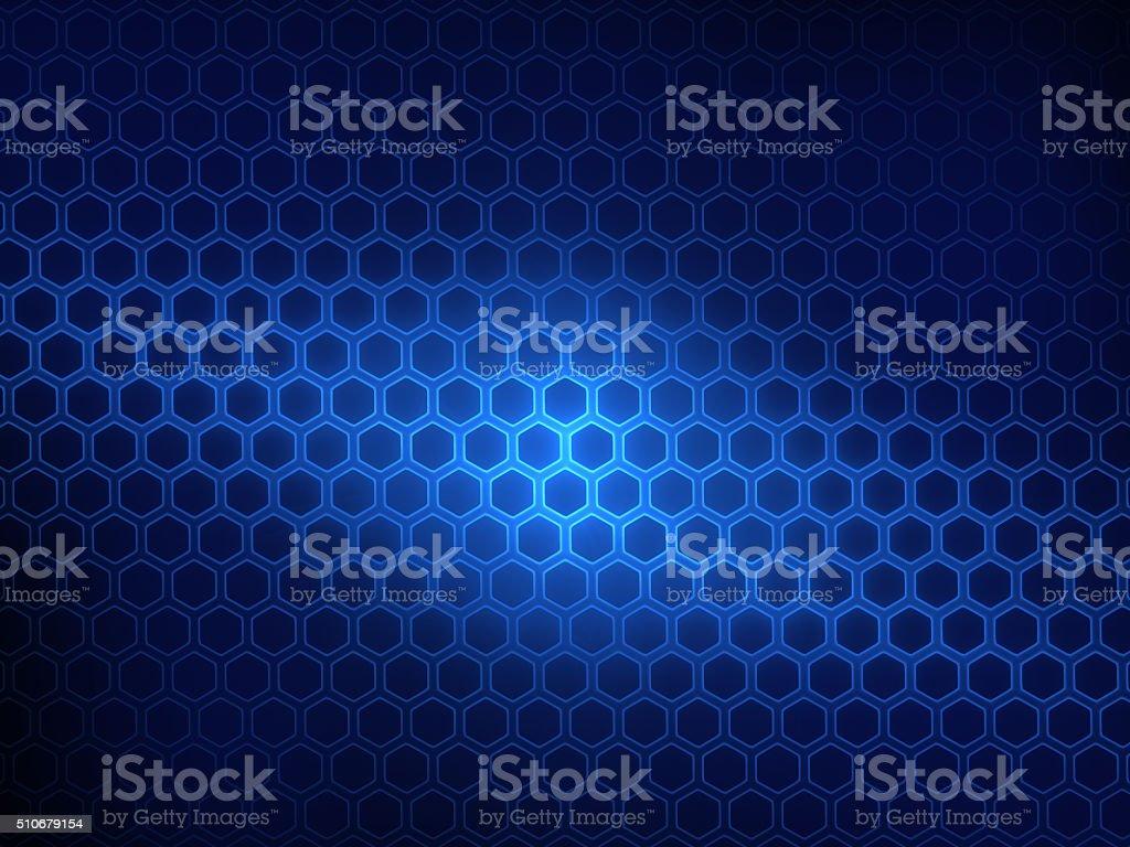 panel of hexagons, techno abstract background vector art illustration