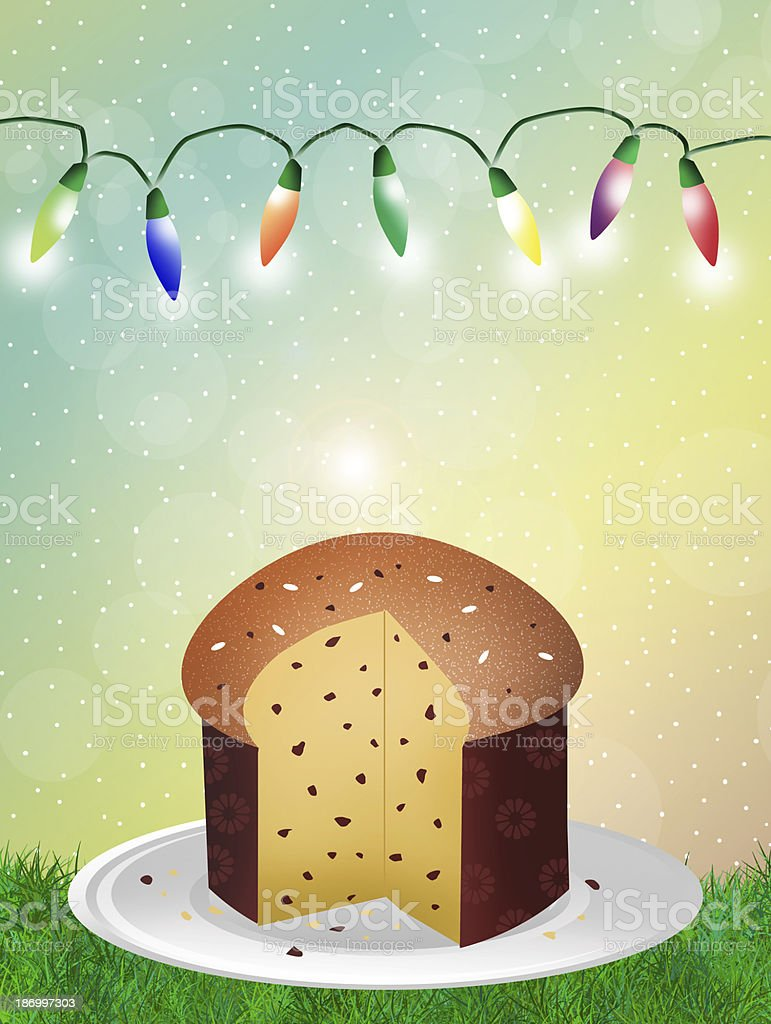Panettone royalty-free stock vector art