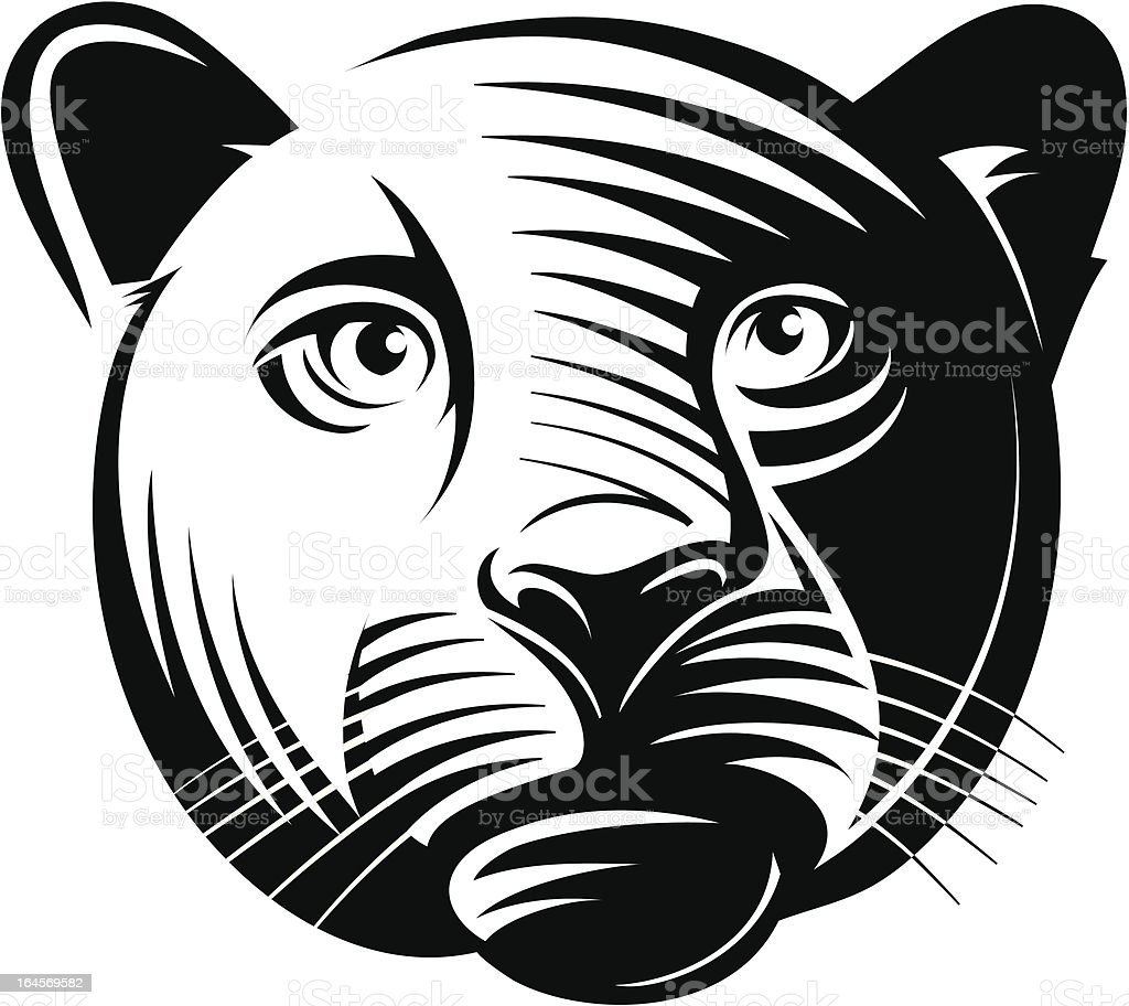 Panther head royalty-free stock vector art
