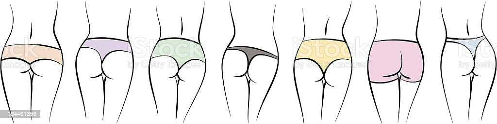 Panties vector art illustration