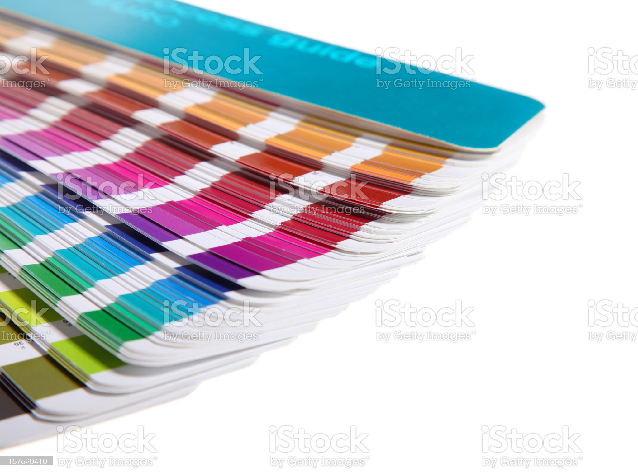 Pantone swatch book on white background royalty-free stock vector art
