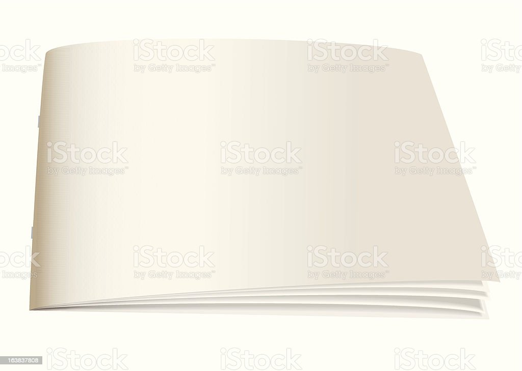 paper back book angle royalty-free stock vector art