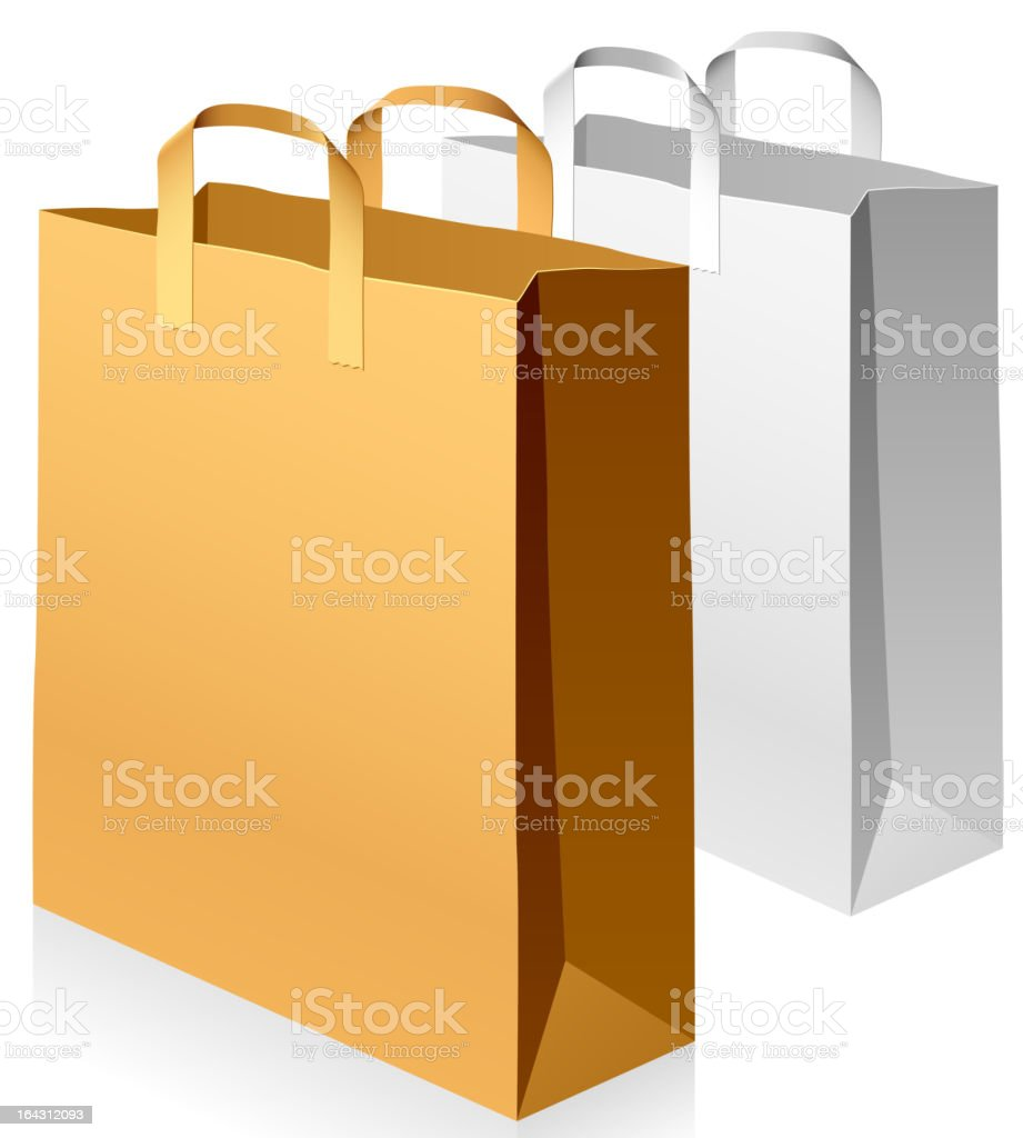 Paper bags royalty-free stock vector art