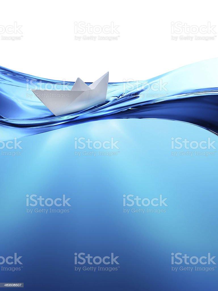 paper boat vector art illustration