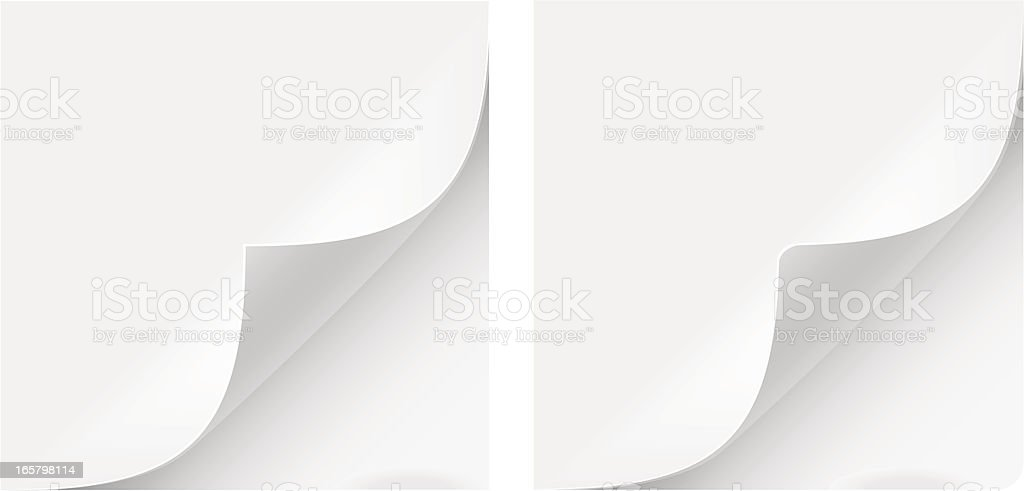 Paper Curl royalty-free stock vector art