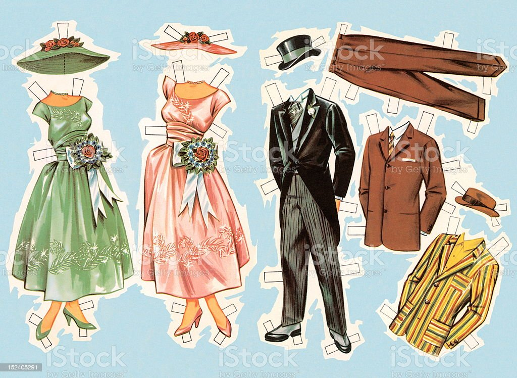 Paper Doll Clothes royalty-free stock vector art