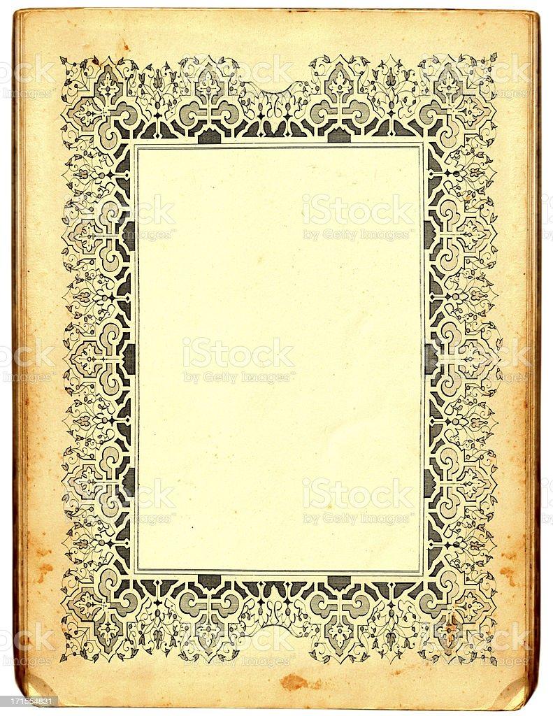 Paper frame vector art illustration