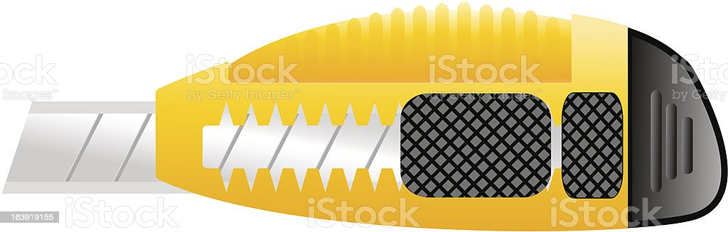 Paper knife royalty-free stock vector art